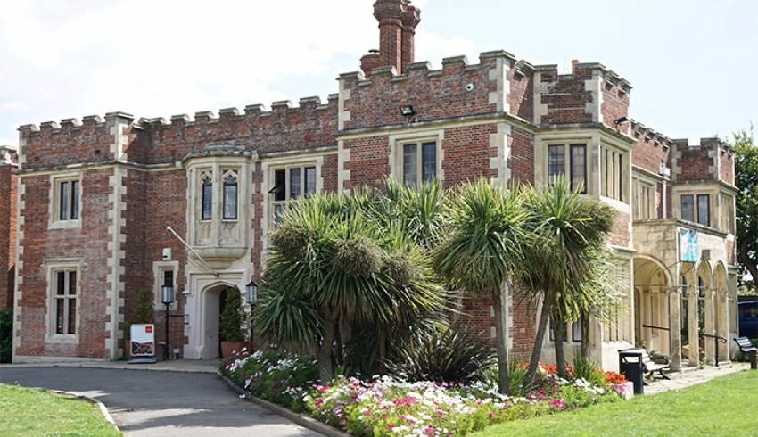 View of the outside of Durbar Hall, a civil ceremony wedding venue in East Sussex