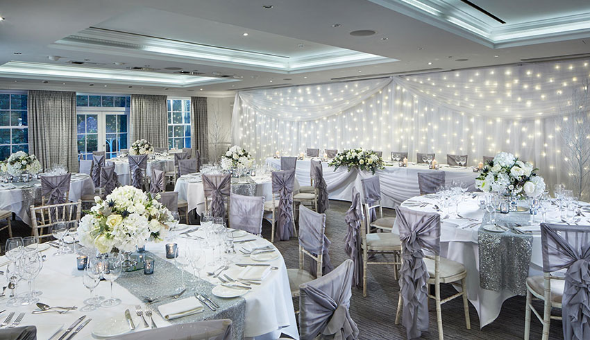 Grey themed wedding at the Alexander House Hotel, West Sussex