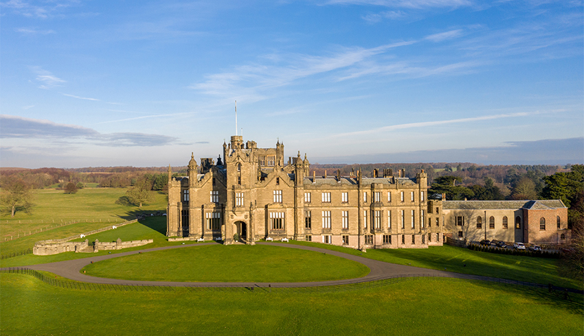 Breath-taking views over Allerton Castle and the surrounding York countryside