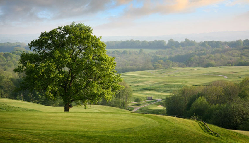 Countryside views from Dale Hill wedding venue in East Sussex