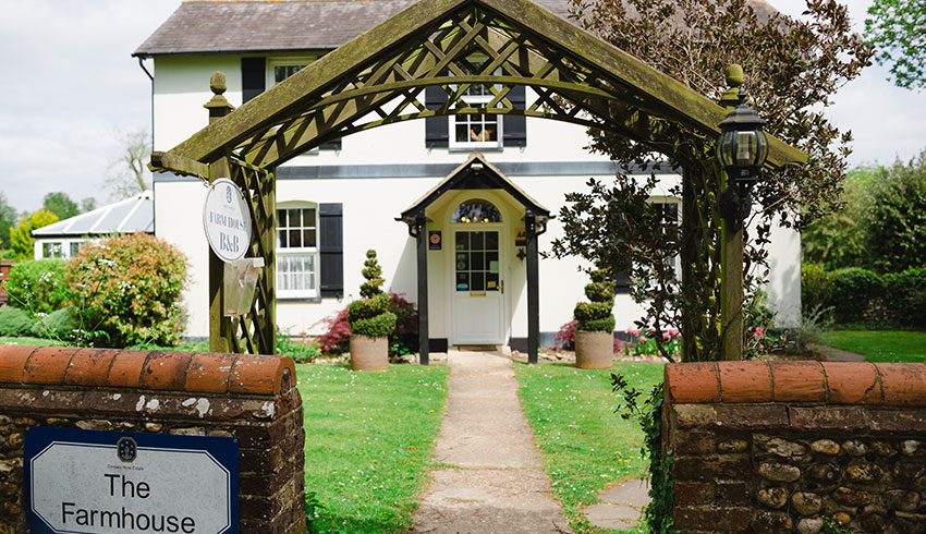 The bridal cottage, The Farm House, at Denbies Wine Estate