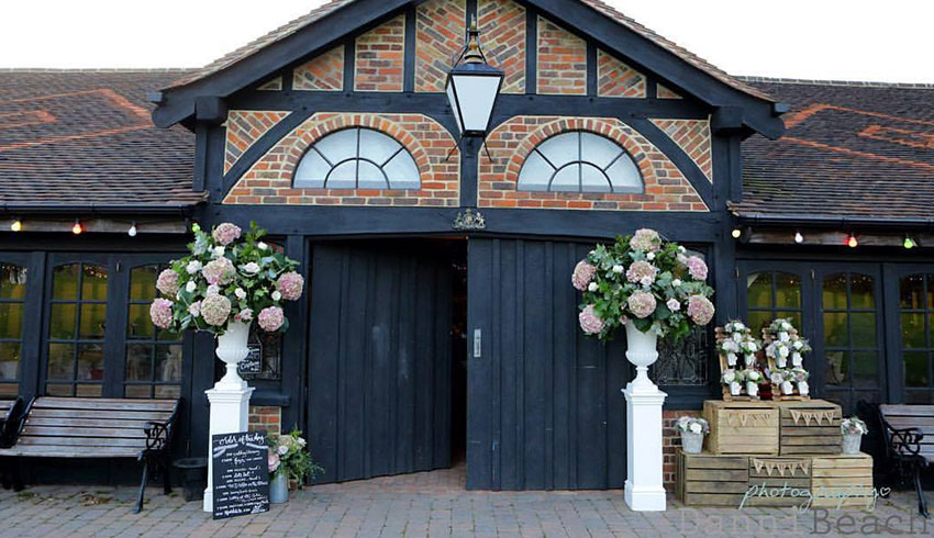 The main barn at Laughton Barns, a Sussex barn wedding venue
