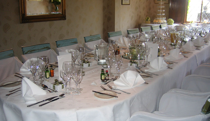 Wedding table arrangements at Mannings Heath Golf Club, West Sussex wedding venue
