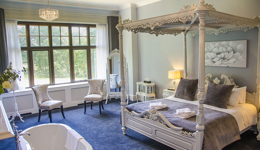 The bridal suite at Stanhill Court