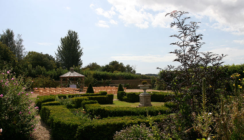 The grounds at the Swan at Chapel Down, Kent wedding venue