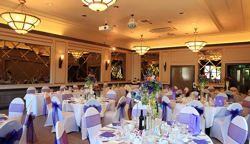 The Hogs Back Hotel, Surrey, showcases a fabulous wedding reception and food