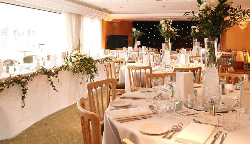 The Parrot Inn, a Surrey wedding venue set up for a wedding reception