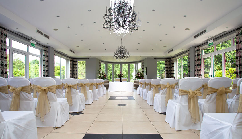 Wedding ceremony room at the Spa Hotel, Kent wedding venue