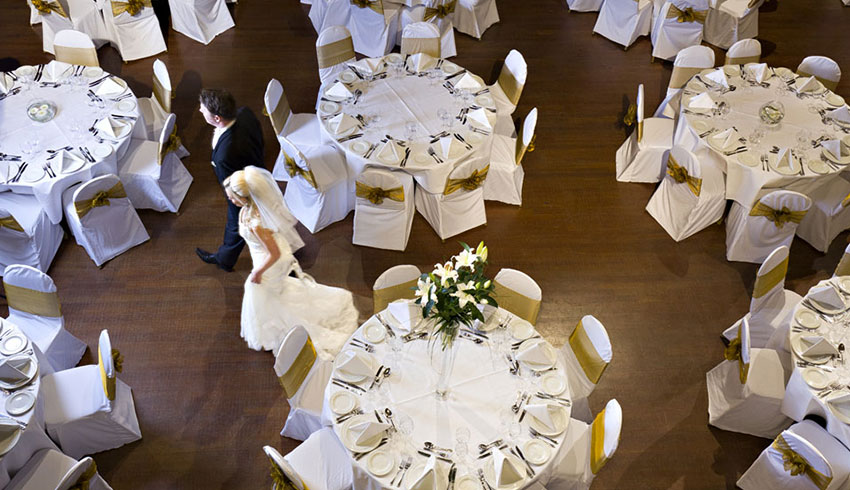 Wedding reception at the Winter Gardens, an East Sussex wedding venue