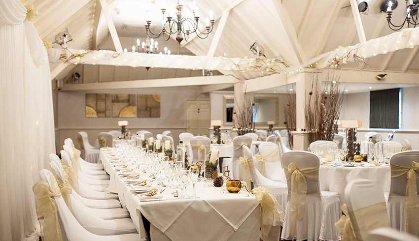 Rowhill Grange & Utopia Spa, a wedding venue in Kent set up for a wedding ceremony